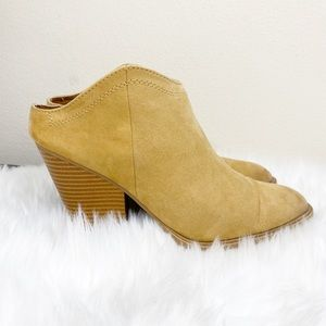 DV by Dolce Vita Tan Suede Ankle Heel Boots